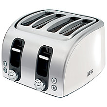 Buy AEG AT7100w-u 4-Slice Toaster, White Online at johnlewis.com