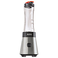 Buy AEG SB2500-u Sport Mini Mixer Food Blender Smoothie Maker, Stainless Steel Online at johnlewis.com