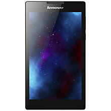 "Buy Lenovo A7 Tablet, Quad-core Processor, 1GB RAM, 16GB Hard Drive, 7"", Wi-Fi, Ebony Online at johnlewis.com"