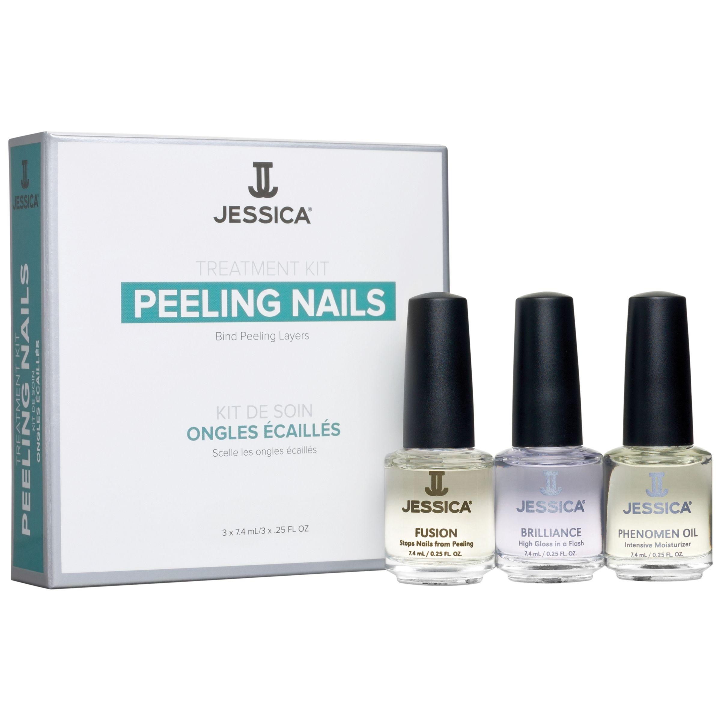 Jessica Jessica Peeling Nails Treatment Kit, 3 x 7.4ml