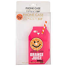 Buy Skinnydip Orange Juice Carton iPhone 5/5S Case, Pink Online at johnlewis.com