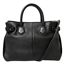 Buy Mango Leather Tote Bag, Black Online at johnlewis.com
