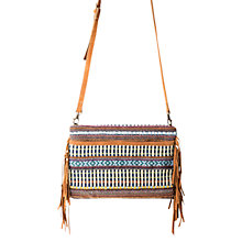Buy Mango Cotton Shoulder Bag, Medium Brown Online at johnlewis.com