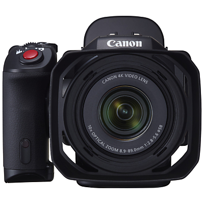 "Canon XC-10 Cinema EOS Camcorder, 4K, 12MP, 10x Optical Zoom, Optical Image Stabilisation, Wi-Fi, 3"" Vari-Angle LCD Panel with ViewFinder Unit, Lens Hood & LP-E6N Battery Pack"