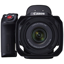 "Buy Canon XC-10 Cinema EOS Camcorder, 4K, 12MP, 10x Optical Zoom, Optical Image Stabilisation, Wi-Fi, 3"" Vari-Angle LCD Panel with ViewFinder Unit, Lens Hood & LP-E6N Battery Pack Online at johnlewis.com"