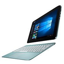 "Buy ASUS Transformer Book Tablet with Detachable Keyboard, Intel Atom, 2GB RAM, 64GB, 10.1"" Touch Screen Online at johnlewis.com"