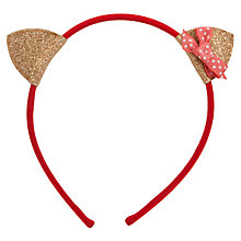 Buy Rockahula Cat Ears and Bow Headband Online at johnlewis.com