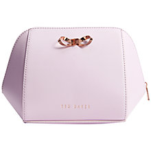Buy Ted Baker Arume Large Trapeze Bow Leather Make-Up Bag Online at johnlewis.com