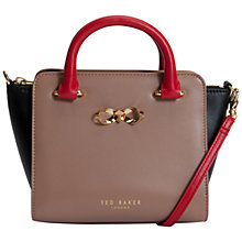 Buy Ted Baker Minley Bow Mini Tote Bag, Mink Online at johnlewis.com
