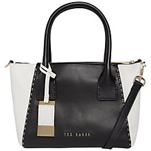 Buy Ted Baker Dannie Colour Block Leather Tote Bag Online at johnlewis.com