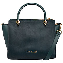 Buy Ted Baker Haylie Leather Crossbody Bag, Green Online at johnlewis.com
