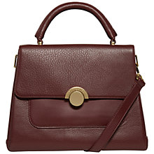 Buy Ted Baker Emma Large Circle Clasp Leather Handbag Online at johnlewis.com
