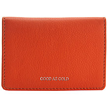 Buy John Lewis Hayley 'Good As Gold' Leather Card Holder, Orange Online at johnlewis.com