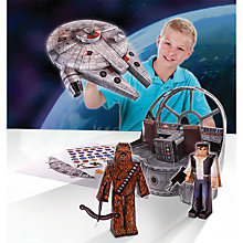 Buy Star Wars Episode VII: The Force Awakens Millennium Falcon Papercraft Pack Online at johnlewis.com