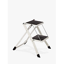 Buy John Lewis 2 Step Folding Stool, Mini, White Online at johnlewis.com