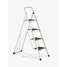 Buy John Lewis 4 Tread Folding Step Ladder, White Online at johnlewis.com