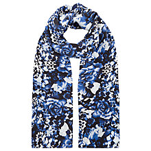 Buy Precis Petite Floral Print Silk Scarf, Blue Online at johnlewis.com