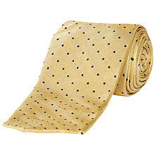 Buy Jaeger Textural Spot Tie, Yellow Online at johnlewis.com