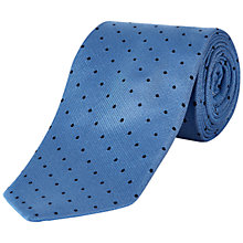 Buy Jaeger Textural Spot Tie, Blue Online at johnlewis.com