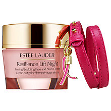 Buy Estée Lauder Resilience Lift Night Firming/Sculpting Creme with Pink Ribbon Bracelet Skincare Gift Set Online at johnlewis.com