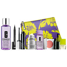 Buy Clinique Pretty Easy Liquid Eyelining Pen, Black and Take The Day Off for Lids, Lashes & Lips, 125ml and Chubby Lash Fattening Mascara, Jet with FREE Clinique Bonus Time Gift Online at johnlewis.com
