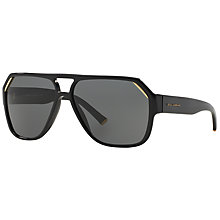 Buy Dolce and Gabbana DG4138 Geometric Sunglasses, Black Online at johnlewis.com