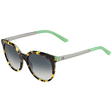Buy Gucci GG3674/S Oval Sunglasses, Tortoise Online at johnlewis.com