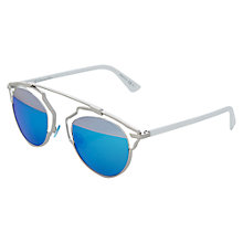 Buy Christian Dior Diorsoreal Round Sunglasses, Silver Online at johnlewis.com