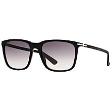Buy Gucci GG 1104/S Square Sunglasses, Black Online at johnlewis.com
