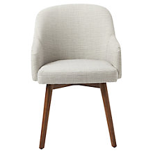 Buy west elm Saddle Dining Chair, Steel/Ivory Online at johnlewis.com
