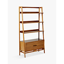 Buy west elm Mid-Century Wide Bookshelf, Acorn Online at johnlewis.com
