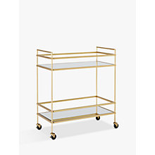 Buy west elm Terrace Bar Cart, Antique Brass Online at johnlewis.com