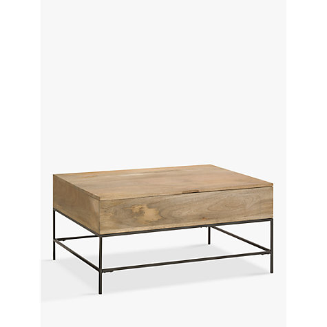 Buy West Elm Industrial Storage Coffee Table John Lewis