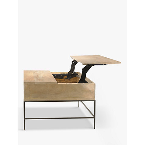 Buy west elm industrial storage coffee table john lewis for West elm industrial storage coffee table
