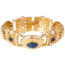 Buy Susan Caplan Vintage 1980s Joan Rivers Pearl Bracelet, Gold/Blue Online at johnlewis.com