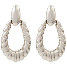Buy Susan Caplan Vintage 1970s Trifari Hoop Earrings, Silver Online at johnlewis.com