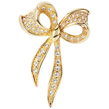 Buy Susan Caplan Vintage 1960s Napier Bow Brooch, Crystal Online at johnlewis.com