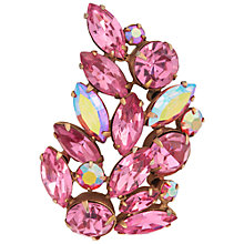 Buy Susan Caplan Vintage 1950s Regency Leaf Brooch, Pink/Gold Online at johnlewis.com