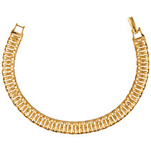 Buy Susan Caplan Vintage 1970s Napier Watchband Bracelet, Gold Online at johnlewis.com
