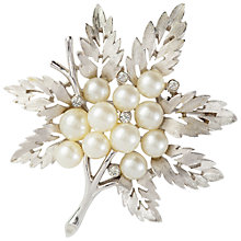 Buy Susan Caplan Vintage 1960s Trifari Leaf Brooch, Silver Online at johnlewis.com