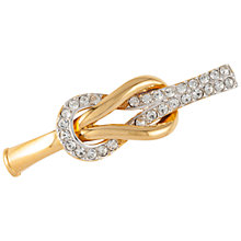 Buy Susan Caplan Vintage 1960s Swarovski Crystal Knot Brooch, Gold Online at johnlewis.com