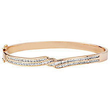 Buy A B Davis Four Row Cubic Zirconia Bangle, Rose Gold Online at johnlewis.com