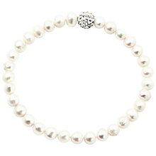 Buy AB Davies Freshwater Peal and Crystal Stretch Bracelet Online at johnlewis.com