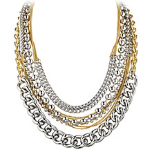 Buy Dyrberg/Kern Multi-Row Chain Necklace, Silver Online at johnlewis.com