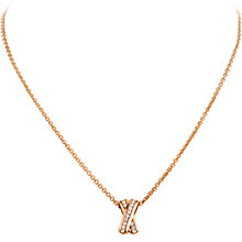 Buy Dyrberg/Kern Cross Diamante Pendant, Rose Gold Online at johnlewis.com