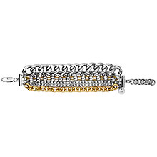 Buy Dyrberg/Kern Multi-Row Chain Bracelet, Silver Online at johnlewis.com