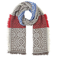 Buy East Jacquard Scarf, Espresso Online at johnlewis.com