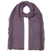 Buy East Boucle Border Scarf, Plum Online at johnlewis.com