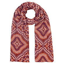 Buy East Kiyana Print Scarf, Auburn Online at johnlewis.com
