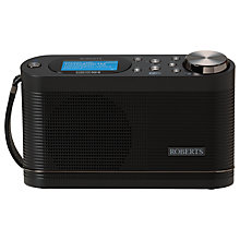 Buy ROBERTS Stream 104 DAB+/FM Radio with Wi-Fi, Black Online at johnlewis.com